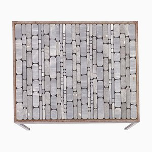 Architectural Mosaic Coffee Table with Marble Inlays, Germany, 1970s