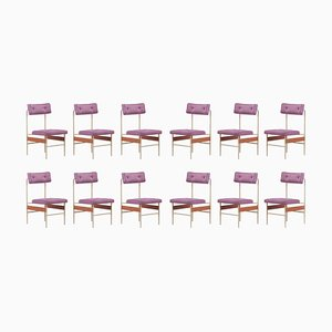 Dining Chairs, Italy, 1960s, Set of 12
