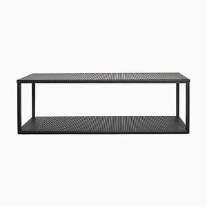 Black Grid Wall Shelf by Kristina Dam Studio