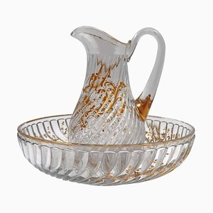 Baccarat Crystal Cup and Water Jug, Set of 2