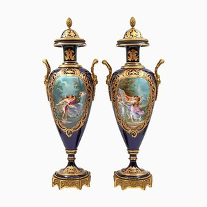 Sèvres Porcelain Vases, Set of 2