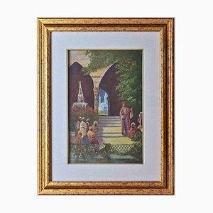 Unknown, Oriental Scene, Original Oil Painting, 1970s