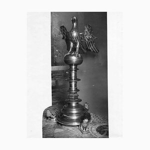 Unknown, Wooden Lectern, Original Photographic Print, Early 20th-Century