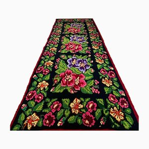 Romanian Floral Rug with Beautiful Roses