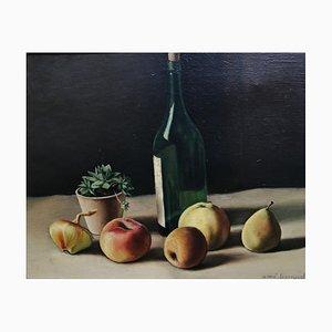 Aimé Barraud, Fruits et Cactus et Bouteille de Vin, 1940