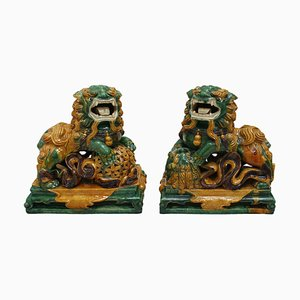 20th Century Chinese Foo Lions, Set of 2