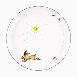 Gray Porcelain Collection Plate from Litolff, 1946