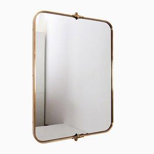 Mid-Century Italian Brass Wall Mirror, 1960s