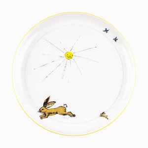Yellow Porcelain Collection Plate from Litolff, 1946