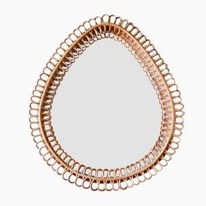 Italian Bamboo Mirror from Franco Albini, 1950s