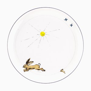 Brown Porcelain Collection Plate from Litolff, 1946