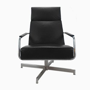 Dutch Leather Swivel Optie Lounge Chair by Harvink, 1990s