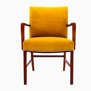 Danish Yellow Armchair, 1960s