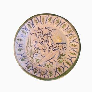 Joueur de Flûte Ceramic Plate by Pablo Picasso, 1951