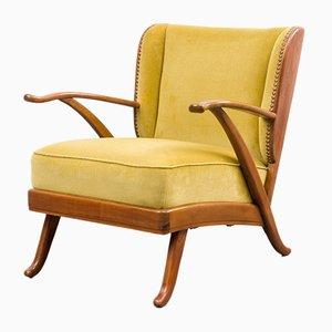 Mohair Velvet Armchair, 1950s