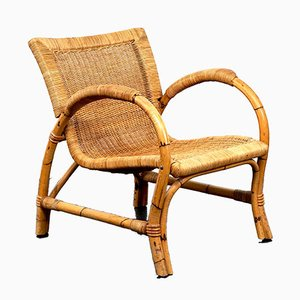 Vintage Rattan Lounge Chair From Arco