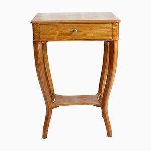 19th Century Biedermeier Elmwood Sewing or Side Table