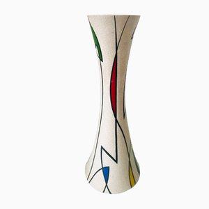 Vintage German Mondriaan Style Ceramic Vase