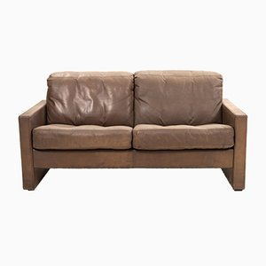 Vintage Brown Leather Sofa From COR