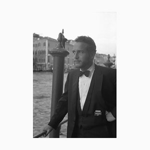 Paul Newman Archivdruck in Weiß