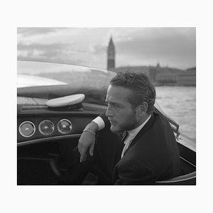 Paul Newman Archivdruck in Schwarz