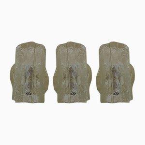 Murano Glass Sconces, Set of 3