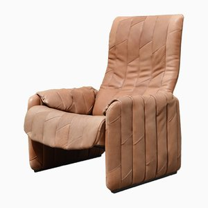 Vintage Brown Leather Armchair From De Sede