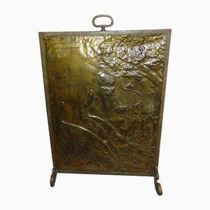 Art Deco Brass Fireplace Screen