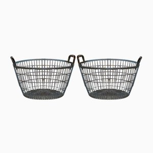 Industrial Baskets, 1940s, Set of 2