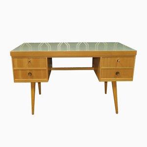 Green Formica Work Desk, 1950s