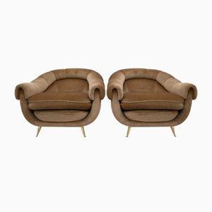 Mid-Century Armchairs, Italy, 1960s, Set of 2