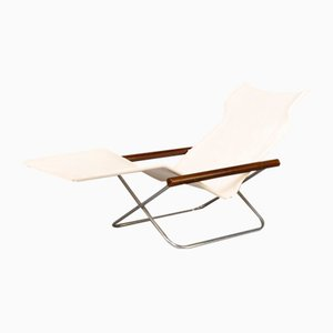 NY Chair X Folding Chaise Longue by Takeshi Nii for Jox Interni, 1950s