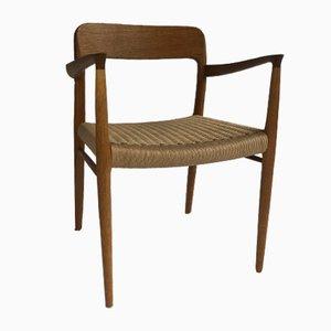 Vintage Danish Beech #56 Chair by Niels Moller for J.L. Møllers, 1950s
