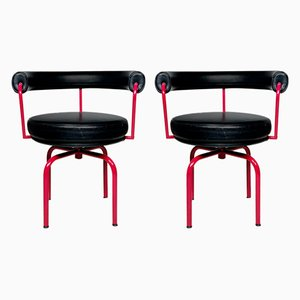 LC7 Swivel Chairs by Charlotte Pierriand for Cassina, Set of 2