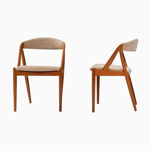 Model 31 Dining Chairs by Kai Kristiansen for Schou Andersen, 1960s, Set of 2