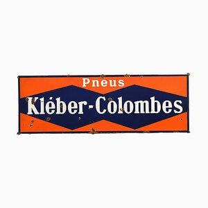 Kleber Colombes Enamel Advertising Sign