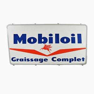 Mobiloil Enamel Sign Advertising