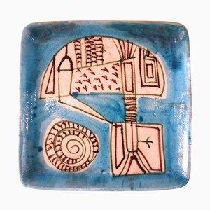 Steingut Keramikteller von Guido Gambone, 1960er