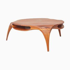 Sankao Coffee Table in Iroko Wood by Henka Lab