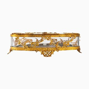 Crystal and Bronze Jewelry Box