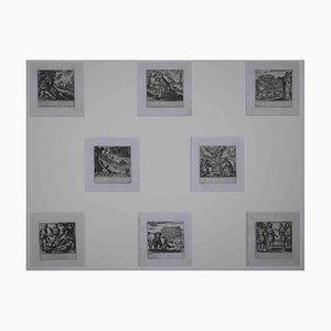 Antonio Tempesta, Testament Plates, Etching, 17th Century, Set of 8