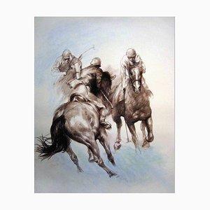 Zhou Zhiwei, Equestrian, Lithograph, 2008