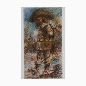 Unknown, The Musketeer, Mixed Media, 1970s