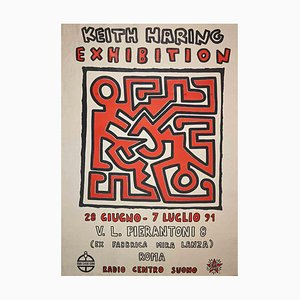 Keith Haring, Keith Haring Exhibition, Vintage Offset Poster, 1991
