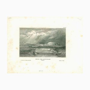 Unknown, Ancient View of Seida, Lithograph, Mid-19th Century