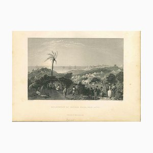 Unknown, The Encampment of Ibrahim Pasha, Lithograph Mid-19th Century