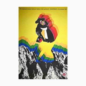 M. Urbaniec, Zakopane Folklore Festival, Offset Print Poster, 1974