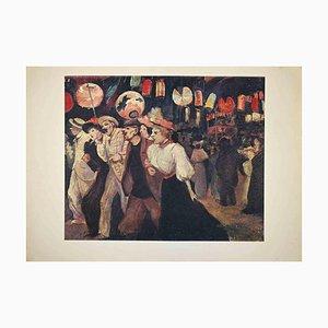 Pigalle, Vintage Offset Poster, H. De Toulouse-Lautrec, Late 20th Century