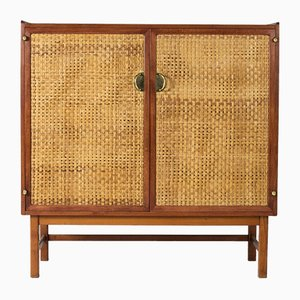 Mahogany and Rattan Cabinet From Wests Furniture