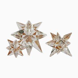 Rosenthal Crystal Candleholders, Set of 3